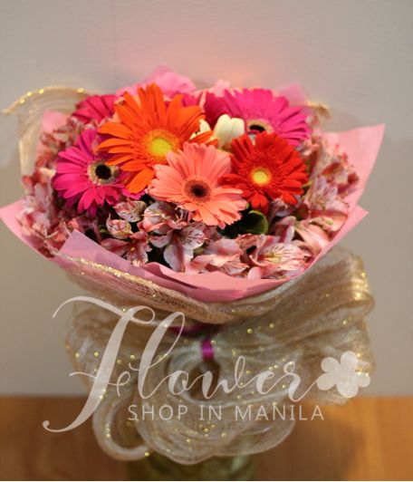 1 Dozen Mixed Gerberas with Alstroemeria