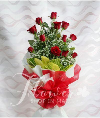 1 Dozen Red Rose (Arm Bouquet)