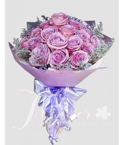 2 Dozen Lavender Ecuadorian Roses