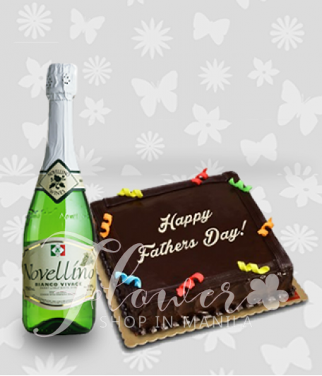 Chocolate Cake and Novellino Bianco Vivace Wine