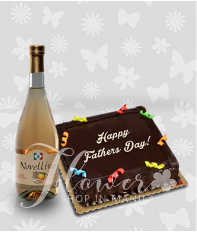 Chocolate Cake and Novellino Lucious Peach Wine