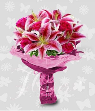 1 Dozen of pink liliies