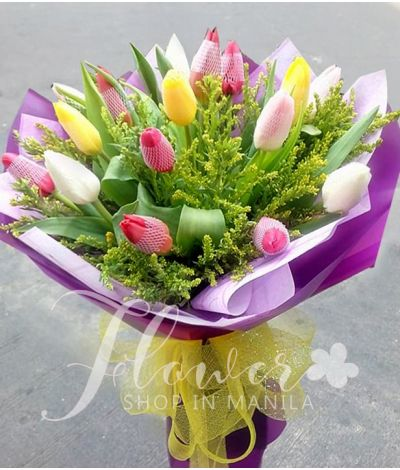 14 Assorted Tulips