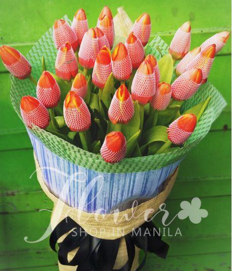 2 Dozen Orange Tulips