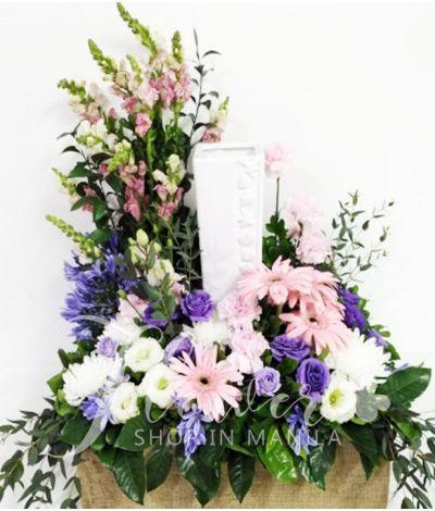Beautiful Mixed Color Urn Flower Arrangement