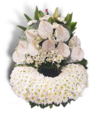 Elegant White Mixed Urn Flower Arrangement